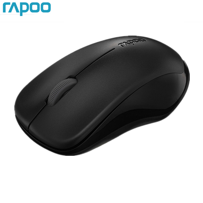 Original Rapoo Silent Wireless Optical Mouse Mute Button Haga clic en Mini Noiseless Game Mice 1000 DPI para Macbook PC Ordenador portátil