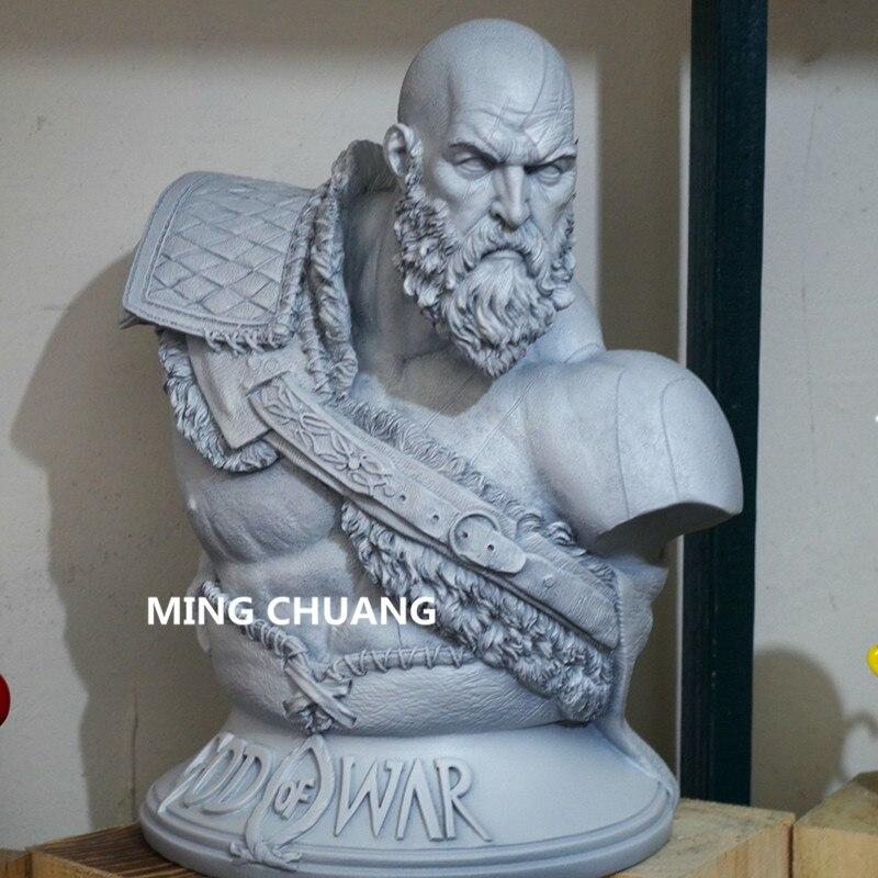 God Of War արձան Kratos 1: 3 Ghost Of Sparta Bust Son Zeus - Խաղային արձանիկներ - Լուսանկար 4