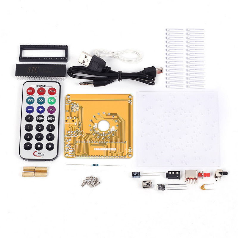 Leory New Arrival Diy 5v Electronic Led Spectrum Display Training Kit Voice Control Module Board Voice Recognition/control Modules