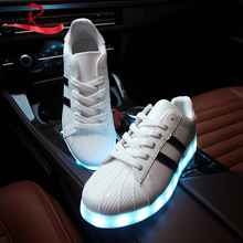 Rechargable Flashing  7 colors 11 modes led lighted shoes unisex suitable for night out ,party ,halloween