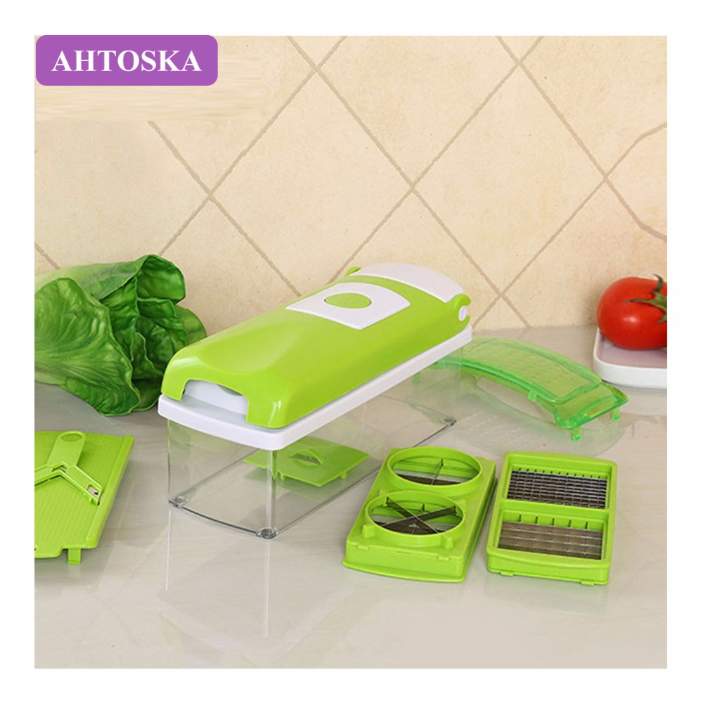 AHTOSKA 12Pcs/Set Multi-Functional Vegetable Slicer And Chopper Carrot Grater Potato Cutter With Stainless Steel Blades