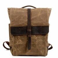 YUPINXUAN Top Luxury Canvas Leather Backpacks for Men Large Capacity Vintage Rucksacks Teenagers Waterproof School Daypacks Big