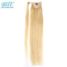 Хвост человеческих волос Реми прямые европейские хвост прически 60 г человека зажим для волос в расширений bhf