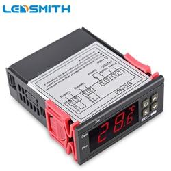 LEDSMITH LEVOU Controlador de Temperatura Digital Termorregulador STC-1000 12V 24V 110V 220V Controle de termostato do Aquecedor E Refrigerador
