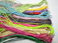 200 merters смешанные Цвет корейской вощеный шнур Строка Нитки 1 мм для Цепочки и ожерелья