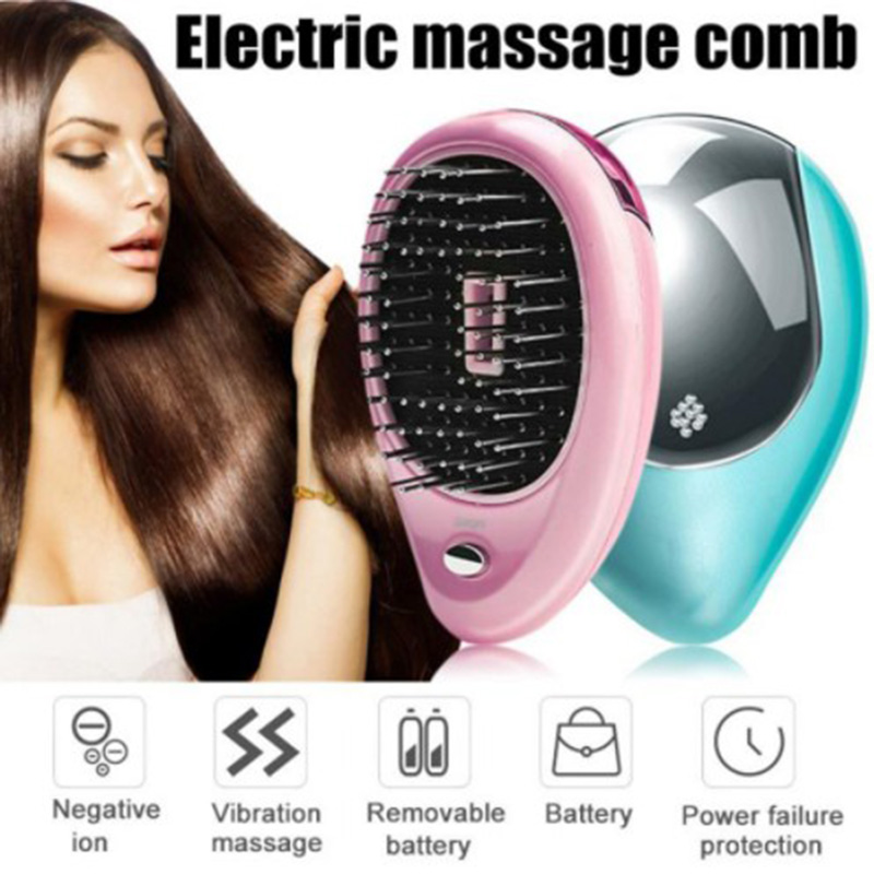 Ionic Comb Hairbrush Electric Negative Ions Hair Comb Brush Hair Modeling Hair Brush Head Massager For Salon Styling Comb