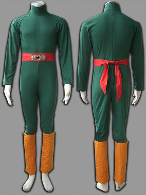 Naruto Rock Lee Traje para Cosplay