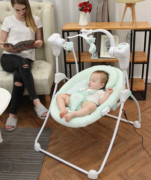 Baby bb baby electric rocking chair cradle shaker remote control pacification swing chair swing chaos sleep supplies babyruler sleep artifact baby rocking chair electric cradle swing baby newborn shaker