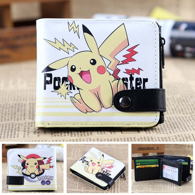 Pokemon ball cards wallet pikachu men's wallets Naruto Tokyo Ghou kids cion purse zipper hasp dollor price Girl's Shoes