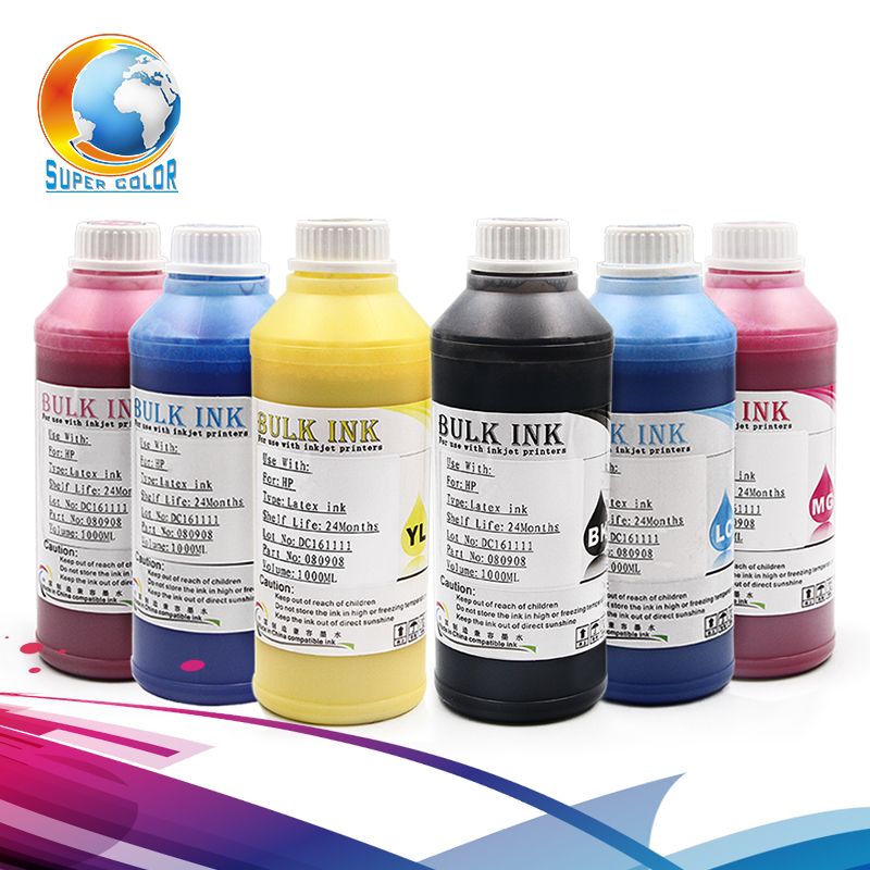 6 colors( K C M Y LC LM) *500ml For Pure Coton Fabrics Digital pigment Dtg Textile Printing Ink for epson printer high quality dtg flatbed printer small size textile t shirt printing machine