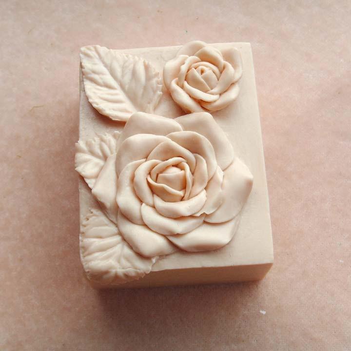 gėlių modelis rankų darbo muilo formų rožių gėlių muilas - Virtuvė, valgomasis ir baras - Nuotrauka 4