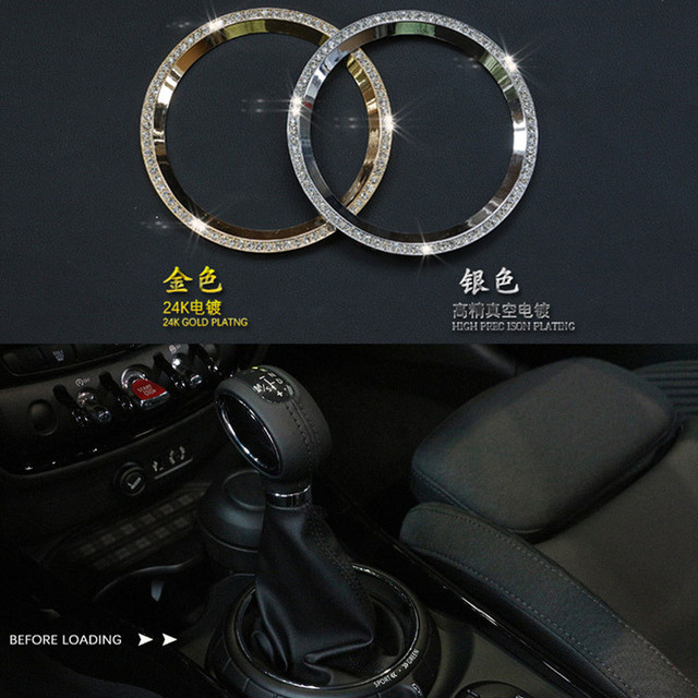 New Luxury Crystal Car Gear Border Decoration Accessories For Mini