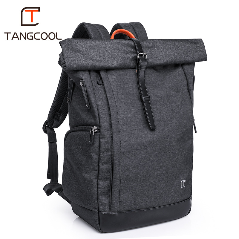 TANGCOOL Brand New Men Business Waterproof Backpack for 15.6 Inch Laptop Unisex Black Travel Luggage Bags School Daily Backpack balang brand designer 2018 new business backpack for 15 6 inch laptop with usb port daily school backpack travel luggage bags