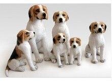 Animal en peluche 30 cm simulation squat beagle chien en peluche jouet poupée grand cadeau w465