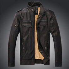Mens Winter Leather Jackets Male Motorcycle Fashion Casual Faux Fur Coats PU Leather Jacket Jaqueta De