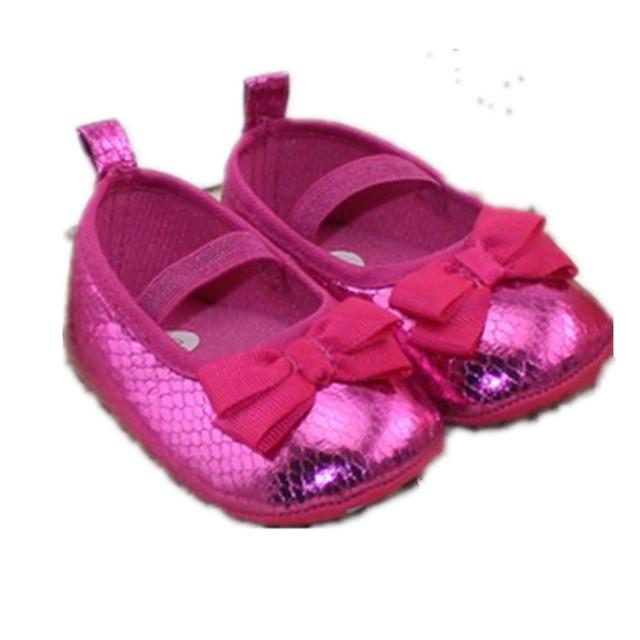 15 Verano Nuevos Zapatos de La Princesa Inferior Suave Zapatos Del Niño Zapatos de Bebé 0-1 Años Del Bebé regalos de Navidad TS010