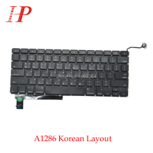 """Натуральная A1286 Корейская клавиатура с Подсветка для Apple Macbook Pro 1"""" A1286 клавиатура корейский Стандартный 2009-2012"""