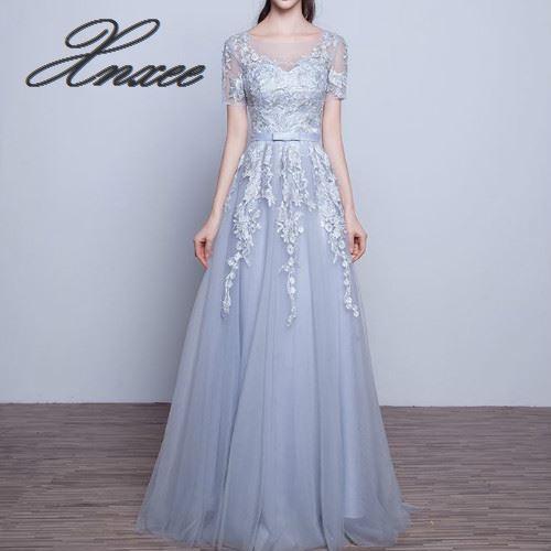 2019 nouvelle robe longue section était mince banquet robe de soirée