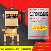 LETER 12 Green Wall Mounted Instrument 3D Green Laser Level Light High Precision LD Electronic Leveling