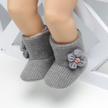 Winter Baby Girls Warm Boots Shoes Flower Printed russia inf