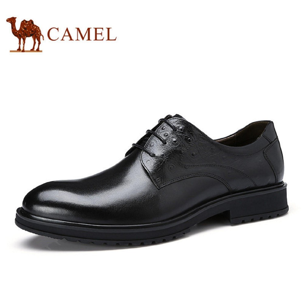 купить Camel Men's 2017 New Business Suits Embossed Leather Comfortable Dress Shoes A732148680 недорого