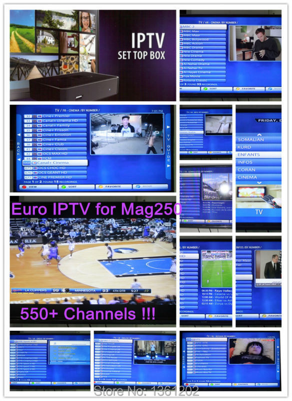 Free 1 Day Test European IPTV 1 Year Subscription with 550+