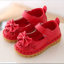 baby girl shoe Autumn/Spring summer Fashion Flower bow Kids Shoes For Girl Leather Solid Hollow Casual Pretty children Shoes