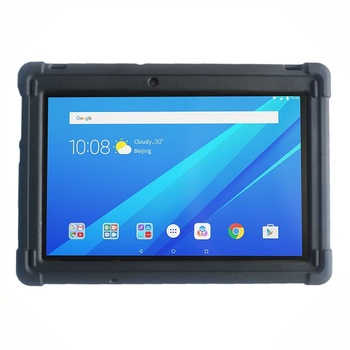 цена на MingShore Rugged Silicone Cover Case For Lenovo Tab 2 A10-70 A10-70F And Lenovo Tab 3 TB3-X70L TB3-X70F 10 Business 10.1 Tablet