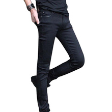 Fashion Mens Jeans 2017 new spring summer pencil jeans slim Pants black jeans fashion rock Male Denim jeans clothing