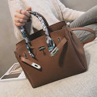 ETAILL Litchi Pattern Famous Brand Bags for Women 2019 Luxury Handbags with Scarves Large Female Messenger Crossboday Bags