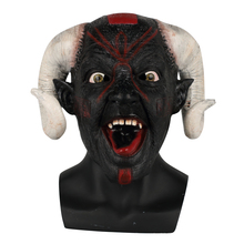 2018 New Scary Adult Costume Goat Devil Demon Horned Beast Horn Halloween Mask Latex Horror Party Cosplay купить недорого в Москве