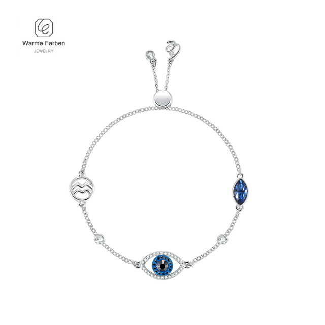 Swarovski Women Bracelets Crystal Twelve Constellation Fashion Blue
