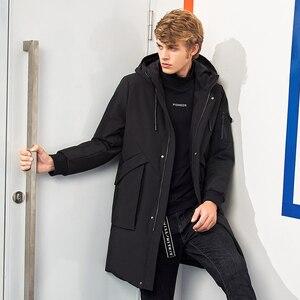 Image 2 - Pioneer Campo impermeabile di spessore inverno degli uomini giù giacca di marca di abbigliamento con cappuccio anatra calda verso il basso cappotto maschile puffer giacca AYR705314