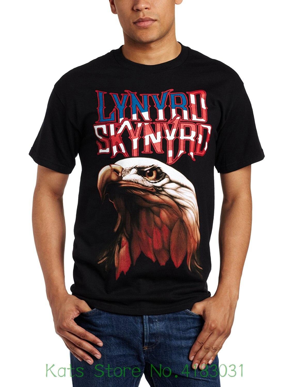 Merchandising Mens Lynyrd Skynyrd Americana T-shirt Mens Shirts Short Sleeve Trend Clothing