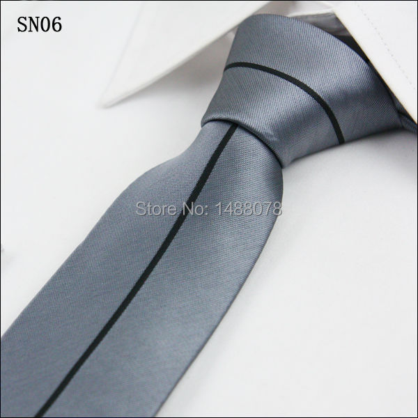 Listrado preto cinza laços 6.5 cm modo de negócios Gravata Mens Ties 2015 gravatá fino de presente do valentim para homens listrado preto cinza laços