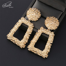 Badu Luxury Big Vintage Earrings for Women Large Geometric Gold Silver Color Metal Exaggerate Statement Jewelry Fashion