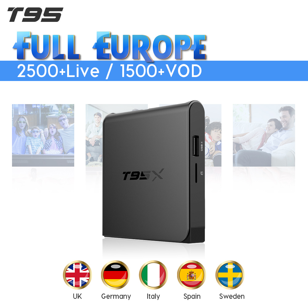 IPTV Code Subscription 1 Year IUDTV Code IPTV Europe Sweden UK Germany Spain Italy Greek IPTV Box T95X Smart Android 6.0 TV Box iptv europe sweden portugal android 8 1 smart tv box 2500 1 year iudtv iptv sweden spain italian arabic uk germany iptv box