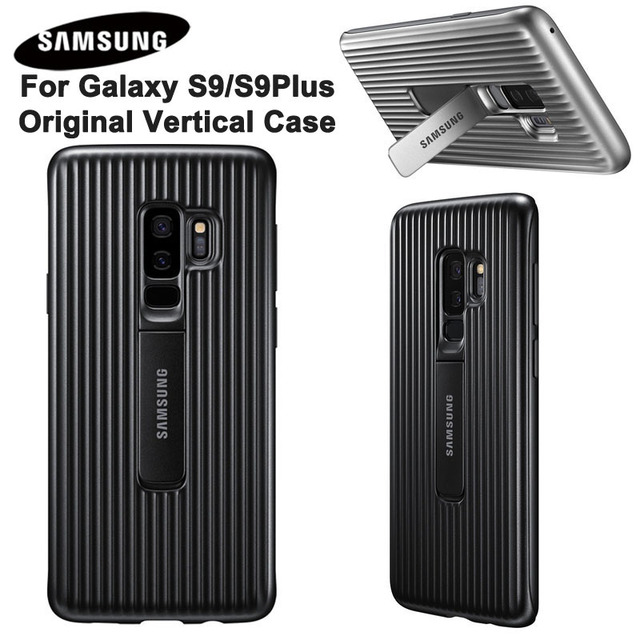 best sneakers 88555 b3e21 US $7.99 |Original Vertical Case For Samsung GALAXY S9 G9600 S9+ S9 Plus  G9650 Protective Standing Cover Shockproof Hard Back Case -in Half-wrapped  ...