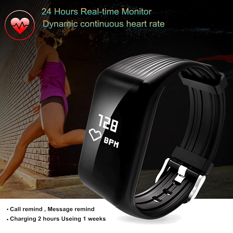 Fitness Tracker K1 Activity Wristband Real-time Heart Rate Monitor Bluetooth Wireless Smart Bracelet Waterproof smart band