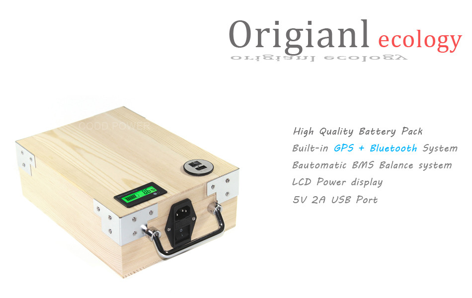 Perfect APP 24V 40AH Electric bike LiFePO4 Battery Pack Phone control Electric bicycle Scooter ebike Power 1000W Wood 6