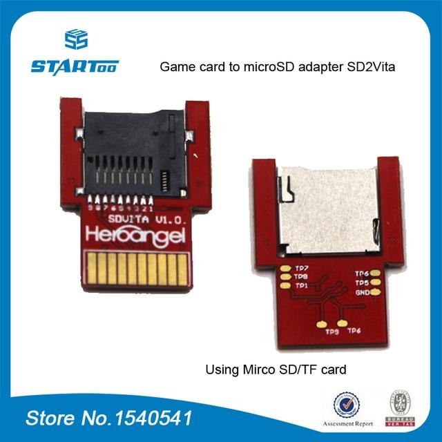 Psvita用ゲームカードにマイクロsd/tfカードアダプターSD2Vita用psヴィータ1000 2000