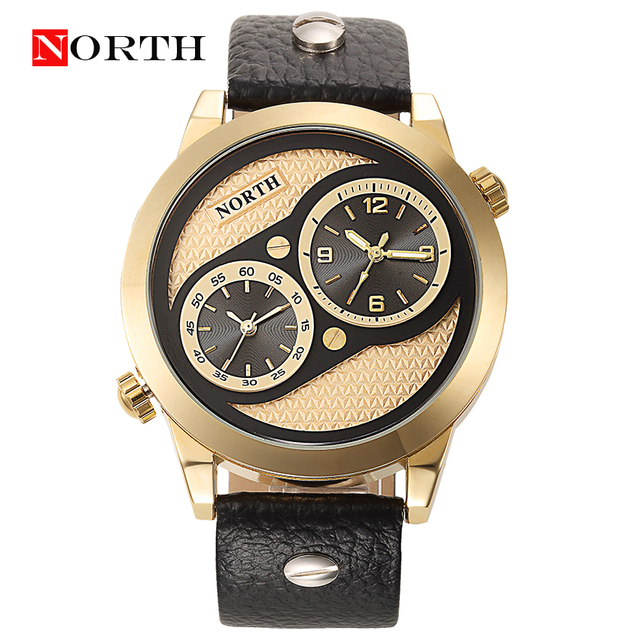 Relojes Hombre 2016 NORTH Brand Mens Watches Sport Military Casual Quartz Analog Double Movement Watch Clock Men Male Watch