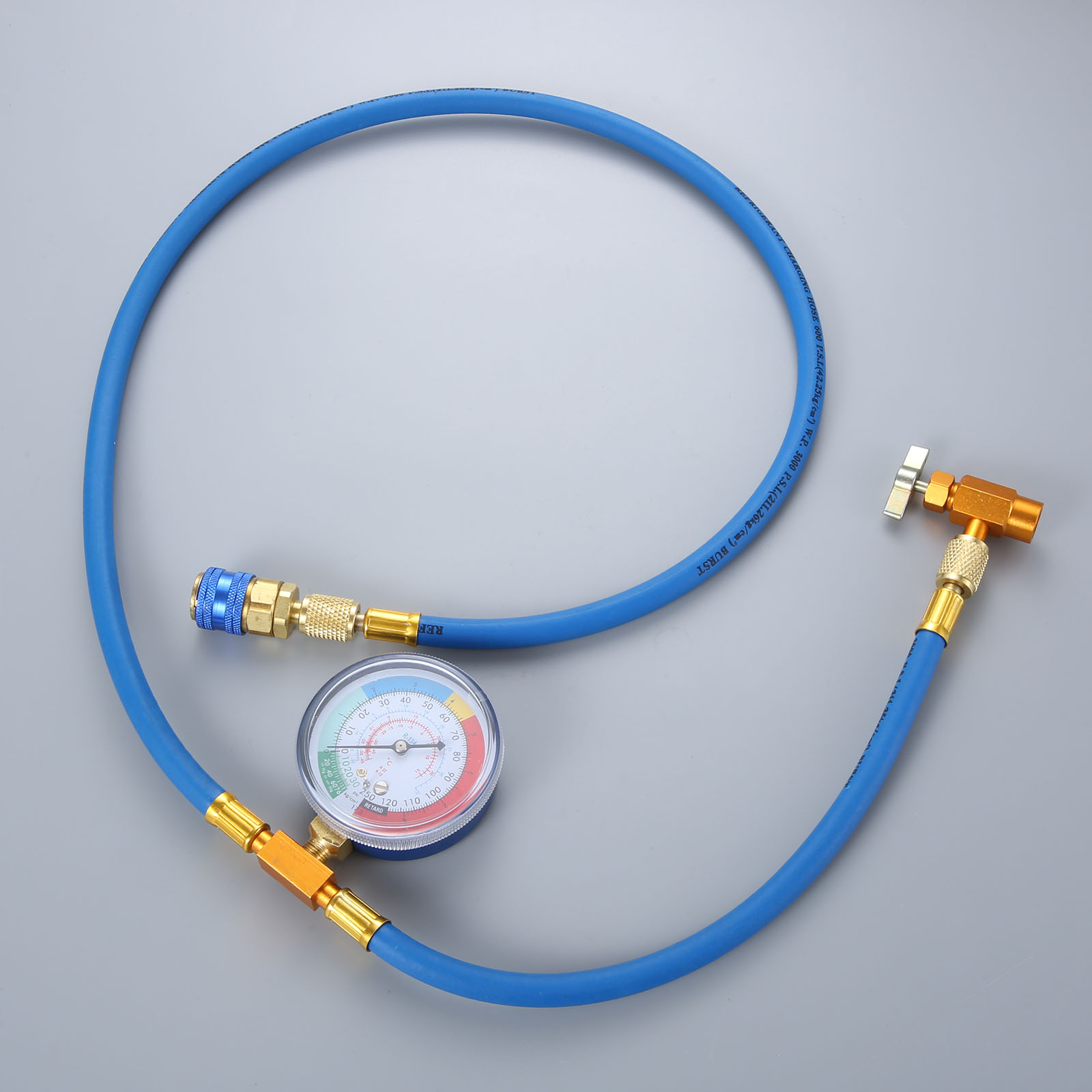 Image 4 - Car AC Air Conditioning R134A Conditioning Refrigerant Recharge Hose w/ Pressure Gauge Can Opener Quick Coupler-in Air-conditioning Installation from Automobiles & Motorcycles