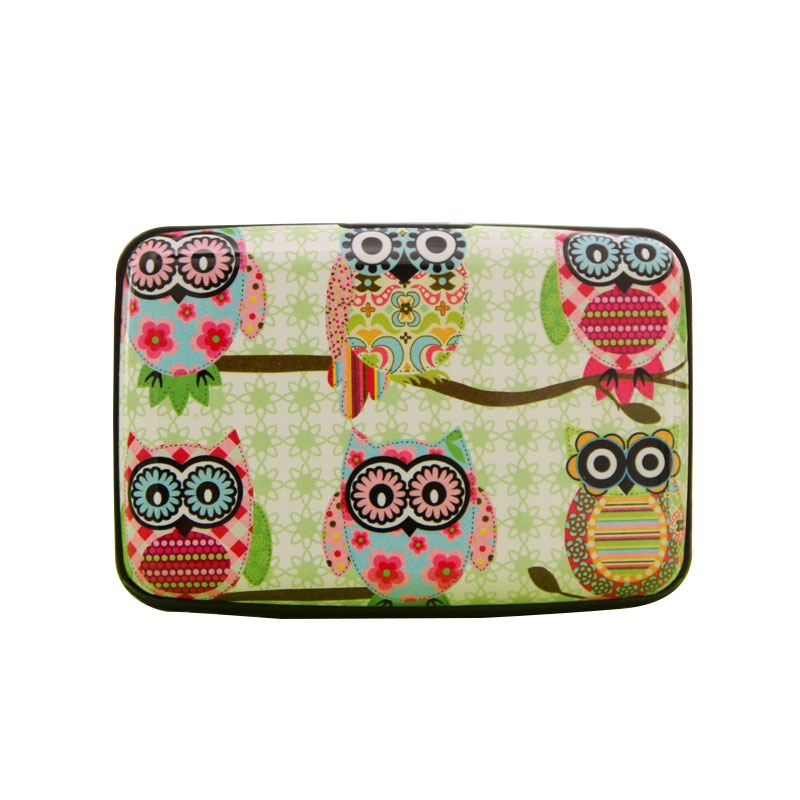 12pc Owl Print Accordian Wallet Wallet Credit Cards Holder ID Case for Men Women