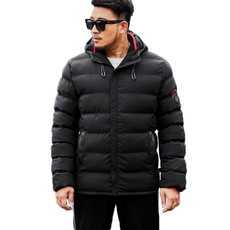 Winter Jacket Men 7XL 8XL 9XL Cotton Padded Warm   Parka   Coat Casual Hooded Fleece Male Jacket Windbreaker Men