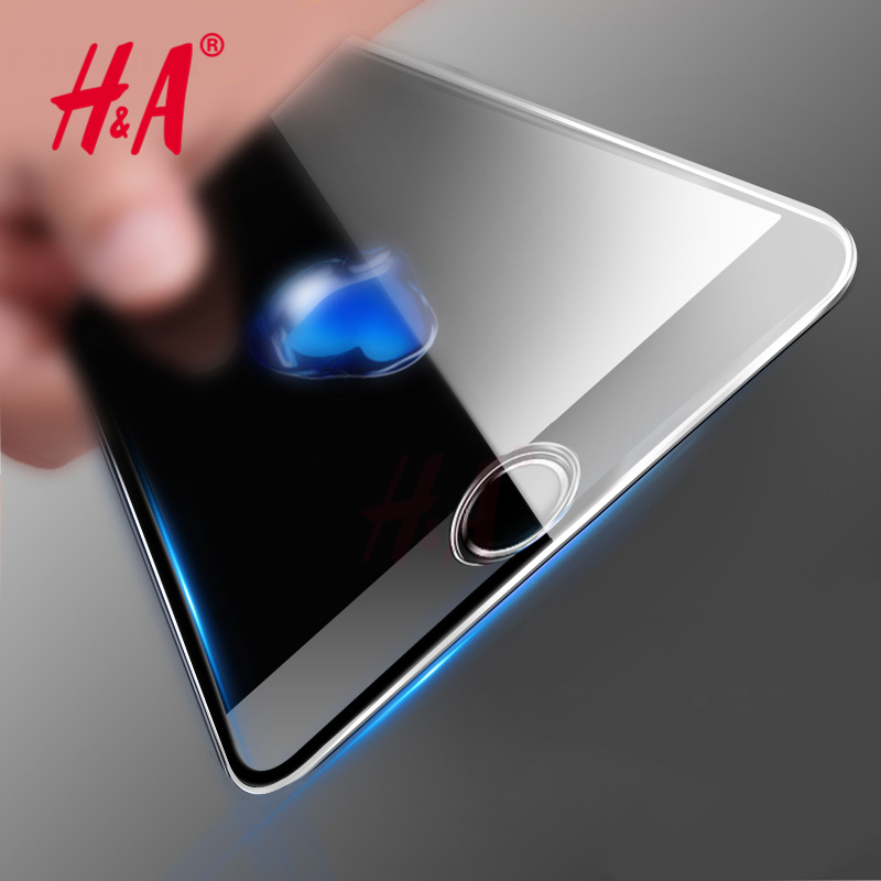 3D Curved Edge Front Screen Protector Tempered Glass for iPhone 6 6S Plus Full Cover 4.7 Titanium Protective Film