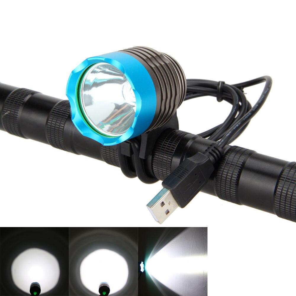 LED USB հեծանիվ լույս T6 L2 լեռնային - Հեծանվավազք - Լուսանկար 5