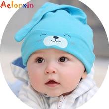 Aelorxin Baby &Kids New Baby Hat Autumn Winter Baby Beanie Warm Sleep Cotton Toddler Cap Kids Newborn Clothing Accessories Hat