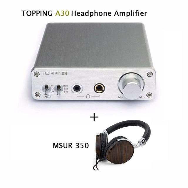 Усилители 2017 Topping A30 Рабочего Мини Наушников Усилитель TPA6120 Hi-Fi Music Power Audio Amp 110 В 220 В + MSUR N350 Гарнитуры