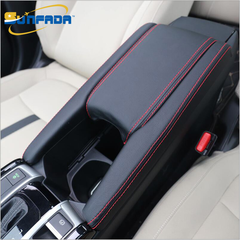 Sunfada High Quality Pu Leather Case Protective Sleeve Car Covers For Honda Civic 10th 2016 2017 Center Storage Box Update In Chromium Styling From